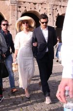 KATY PERRY and Orlando Bloom Out in Rome 04/28/2018