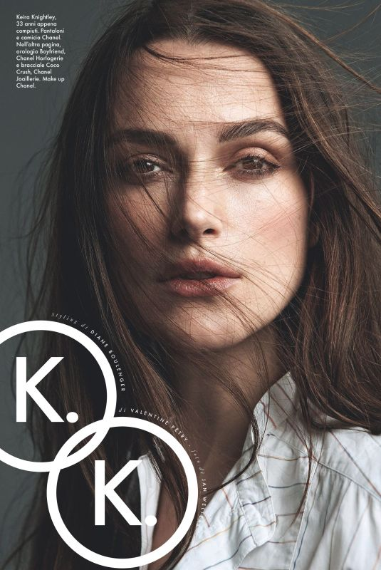KEIRA KNIGHTLEY in Elle Magazine, Italy May 2018