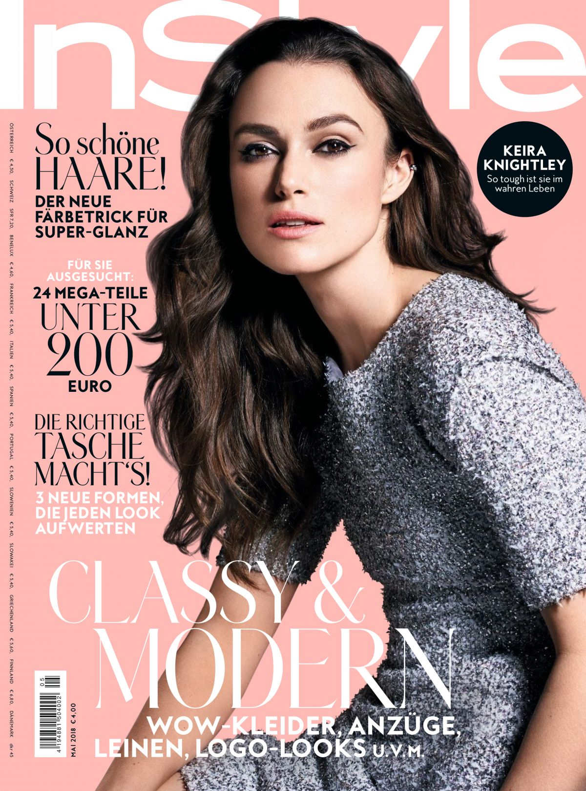 Instyle Magazine Us: KEIRA KNIGHTLEY In Instyle Magazine, Germany May 2018