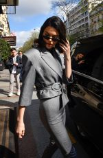 KENDALL JENNER Arrives at Adidas Store in Paris 04/05/2018