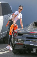 KENDALL JENNER Leaves a Studio in Calabasas 04/10/2018