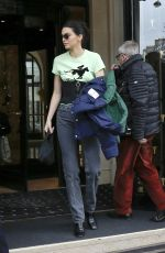 KENDALL JENNER Leaves Her Hotel in Paris 04/03/2018