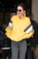 KENDALL JENNER Out and About in Paris 04/04/2018