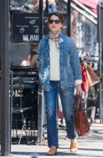 KERI RUSSELL Out Shopping in New York 04/20/2018