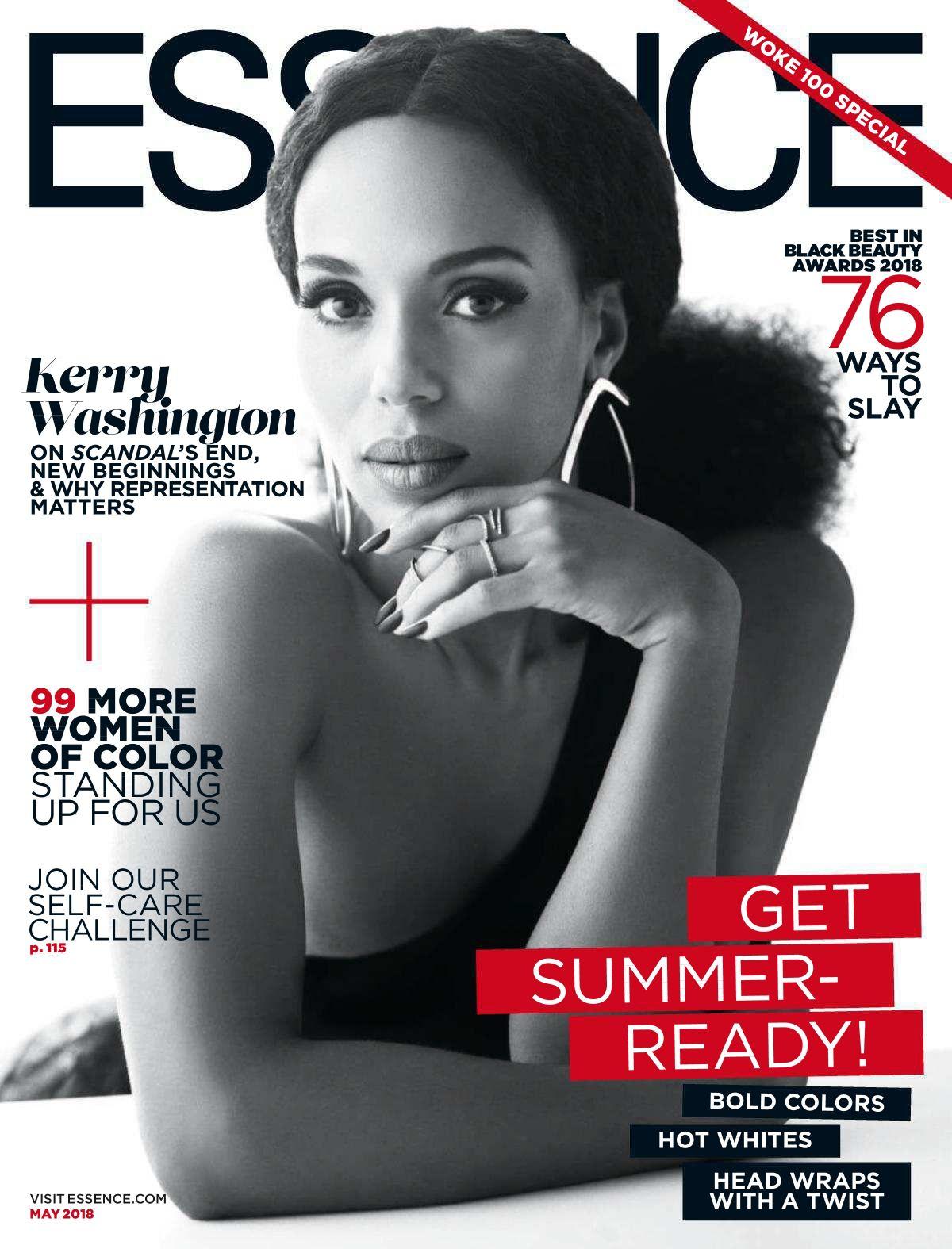 KERRY WASHINGTON In Essence Magazine, May 2018