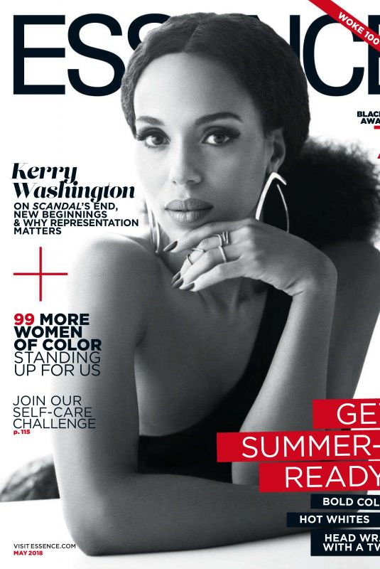 KERRY WASHINGTON in Essence Magazine, May 2018