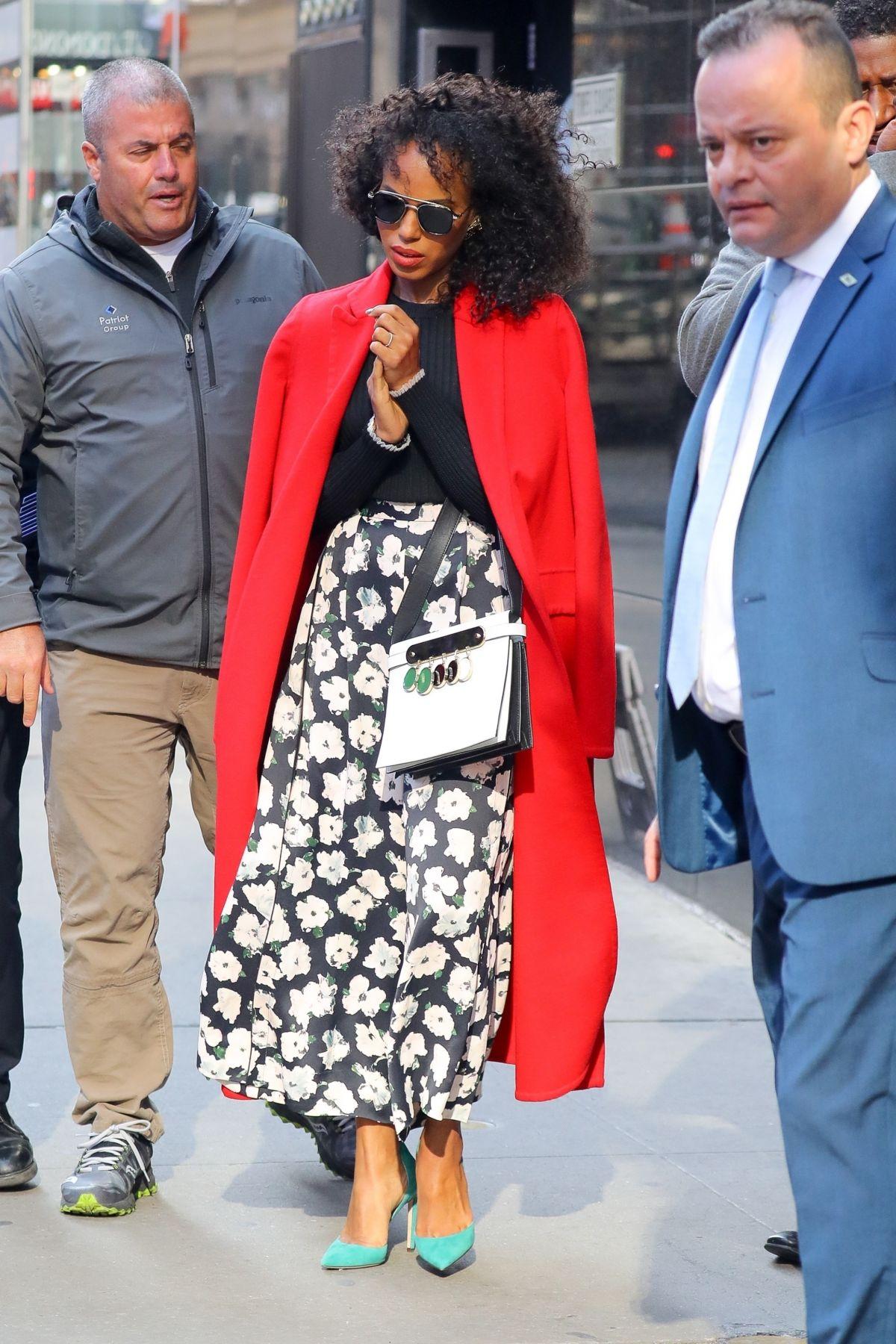 Good Morning America New York : Kerry washington leaves good morning america in new york