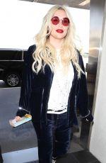KESHA SEBERT at LAX Airport in Los Angeles 04/23/2018