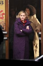 KIERNAN SHIPKA on the Set of The Chilling Adventures of Sabrina in Vancouver 04/05/2018