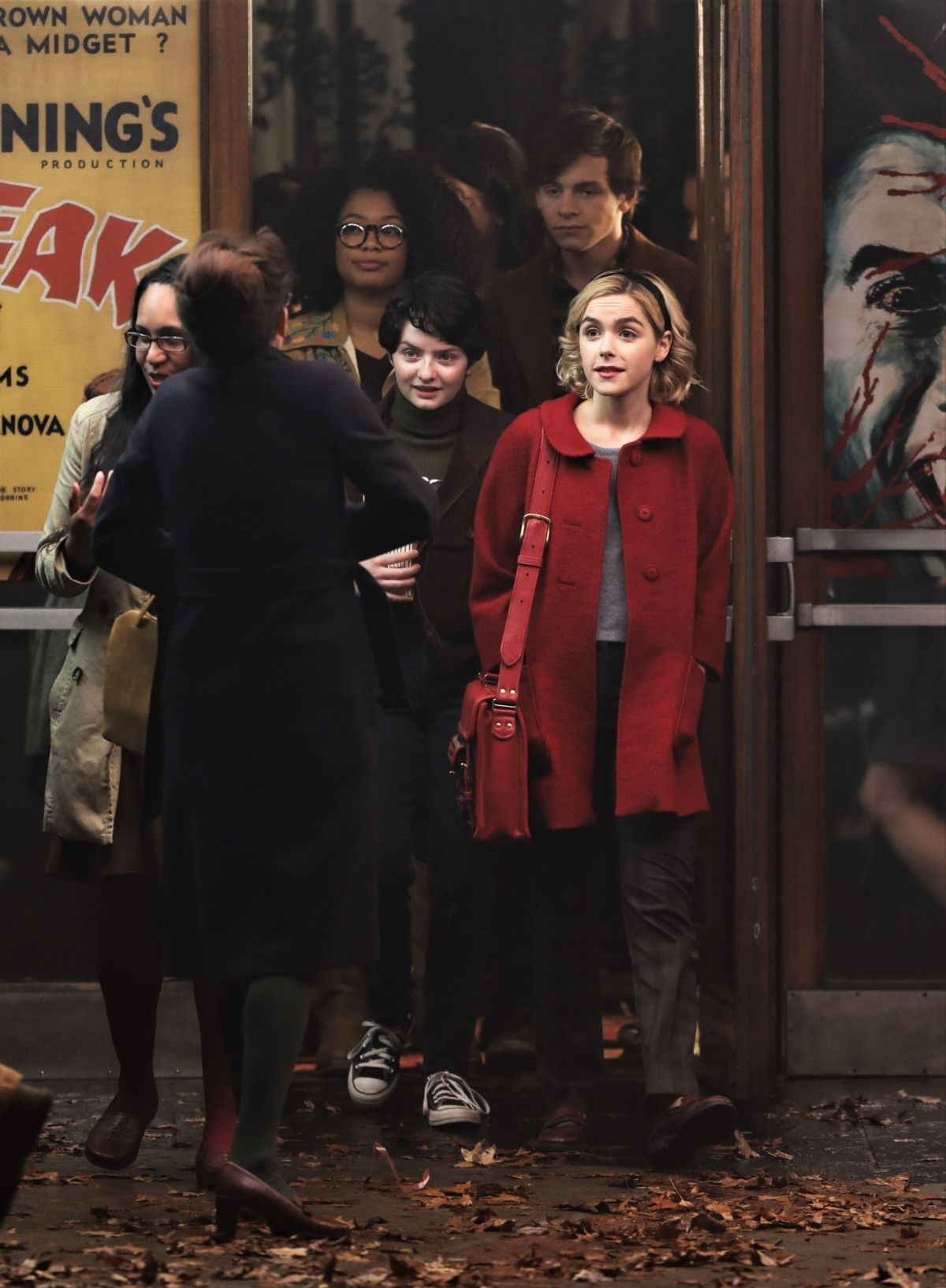 Kiernan Shipka On The Set Of The Chilling Adventures Of