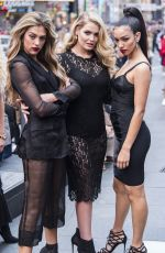 KITTY SPENCER, SISTINE STALLONE and PRINCESS MARIA-OLYMPIA on the Set of a Photoshoot for Vogue Brazil at Times Square 04/06/2018