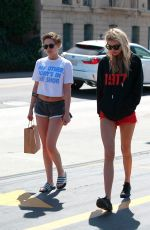 KRISTEN STEWART and STELLA MAXWELL in Shorts Out in Los Angeles 04/12/2018