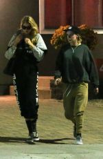 KRISTEN STEWART and STELLA MAXWELL Leaves Shapehouse in Los Angeles 04/18/2018