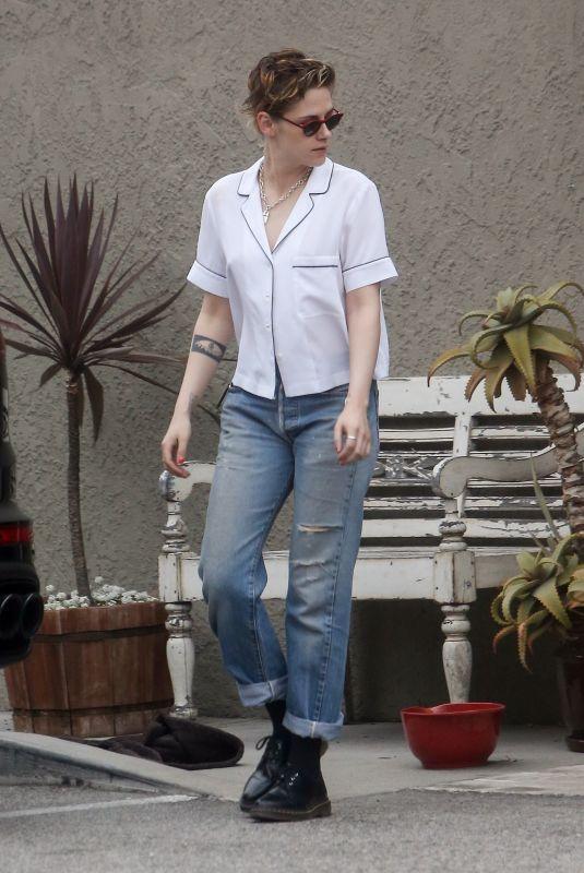 KRISTEN STEWART in Jeans Out in Los Angeles 04/07/2018