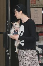 KRYSTEN RITTER and Adam Granduciel Take Their Dog to Animal Hospital in Los Angeles 04/04/2018