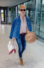 KYLIE MINOGUE Arrives at Heathrow Airport in New York 04/23/2018