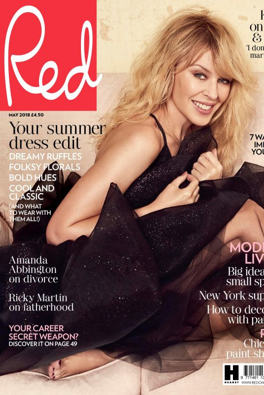 KYLIE MINOGUE in Red Magazine, May 2018