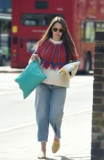 LACEY TURNER Out Shopping at Poundland in London 04/26/2018