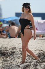 LARSA PIPPEN in Swimsuit on the Beach in Miami 03/31/2018