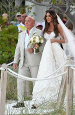 LAURA ZILLI at Her Wedding on the Beach in Miami 04/07/2018
