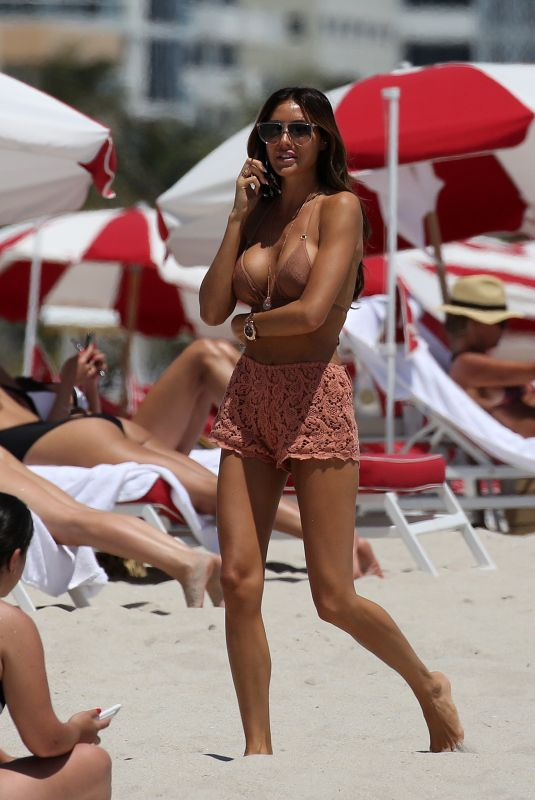 LAURA ZILLI in Bikini Top at a Beach in Miami 04/17/2018