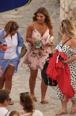 LAUREN POPE and CHLOE LEWIS on the Set of a Photoshoot in Ibiza 04/22/2018