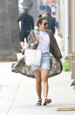 LEA MICHELE Arrives to All Year Round Store in Los Angeles 04/01/2018