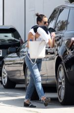 LEA MICHELE Heading to a Spa in Los Angeles 04/05/2018