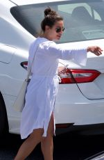 LEA MICHELE Out for Lunch in Brentwood 04/08/2018