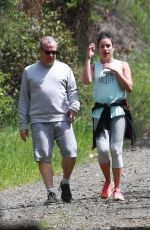 LEA MICHELE Out Hikinig in Los Angeles 04/08/2018