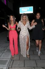 LEIGH-ANNE and Sister SAIRAH PINNOCK at a Birthday Party in London 04/28/2018