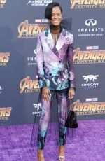 LETITIA WRIGHT at Avengers: Infinity War Premiere in Los Angeles 04/23/2018
