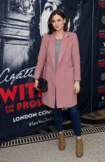 LILAH PARSONS at Witness for the Prosecution by Agatha Christie Play in London 04/25/2018