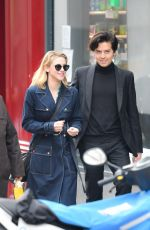 LILI REINHART and COLE SPROUSE Out in Paris 04/02/2018