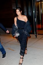 LILY ALDRIDGE Arrives at Gigi's Birthday Party in New York 04/23/2018