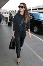 LILY ALDRIDGE at LAX Airport in Los Angeles 04/20/2018