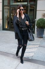 LILY ALDRIDGE Leaves Her Hotel in New York 04/05/2018