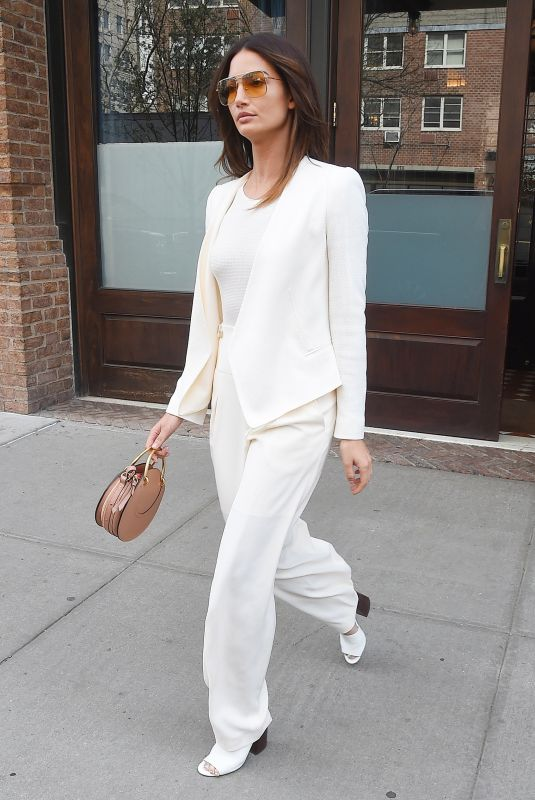 LILY ALDRIDGE Out and About in New York 04/24/2018