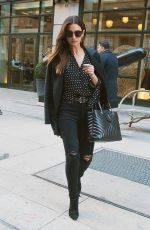 LILY ALDRIDGE Out in New York 04/05/2018