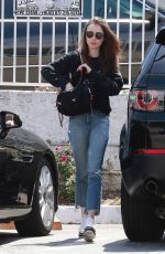 LILY COLLINIS Out for Lunch at Tokyo Cube in Studio City 04/24/2018