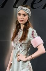 LILY COLLINS at Cartier