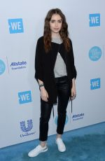LILY COLLINS at WE Day California in Los Angeles 04/19/2018