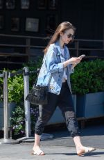 LILY COLLINS Out and About in Los Angeles 04/12/2018