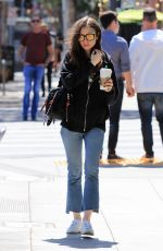LILY COLLINS Out for Coffee in Los Angeles 04/16/2018