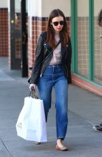 LILY COLLINS Shopping at Williams Sonoma in Beverly Hills 04/18/2018