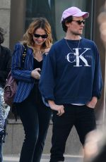 LILY JAMES and Matt Smith Out in New York 04/24/2018