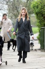 LILY JAMES and Matt Smith Out in Primrose Hill 04/16/2018