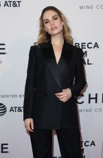 LILY JAMES at Little Woods Screening at Tribeca Film Festival 04/21/2018