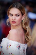 LILY JAMES at The Guernsey Literary and Potato Peel Pie Society Premiere in London 04/09/2018