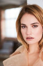 LILY JAMES in Stella Magazine, April  2018